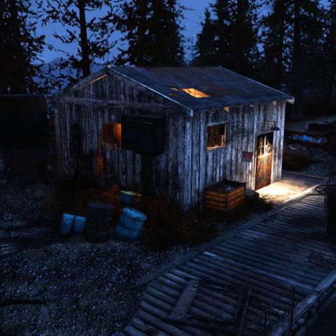 Site Alpha at night