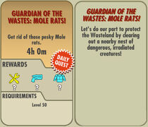 FoS Guardian of the Wastes Mole Rats! card