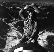 Frame of film Dr Strangelove or How I Learned to Stop Worrying and Love the Bom