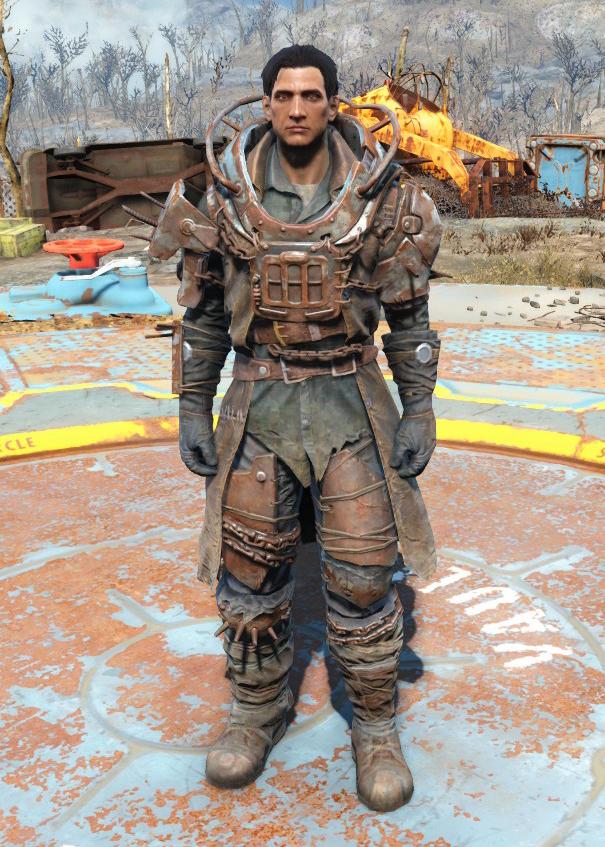 Deadpool Armor for Boiled Leather-Addon for DeadpoolF4 - Fallout 4 ...