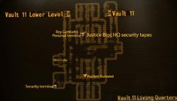 Vault 11 living quarters map