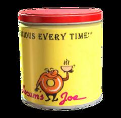 Clean coffee tin