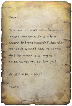 FO4 Buttercup Sales Note