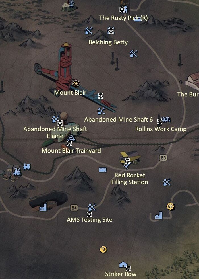 FO76 Power Armor Map Ash Heap Central