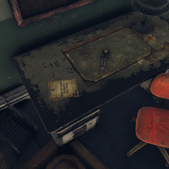 Possible magazine location in the basement