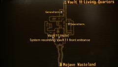 Vault 11 entrance map