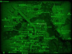 FO4 Боксёрский зал (карта мира)