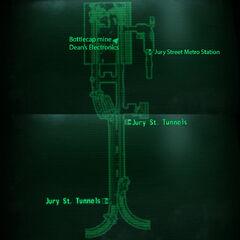 Jury Street Station loc map