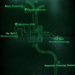 Metro Museum Station loc map