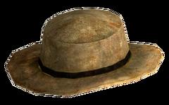 Rawhide cowboy hat