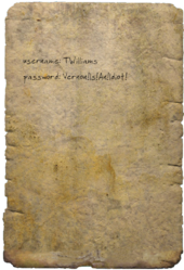 FO4 Bergman's Password Note