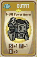 FoS T-60f Power Armor Card