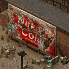 A Nuka-Cola Cherry billboard in <a class=