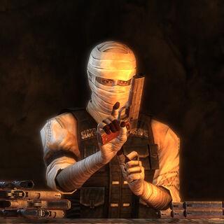 Джошуа Ґрехем перевіряє пістолети .45 Auto перед боєм з Білоногими