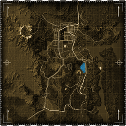 El Dorado dry lake map
