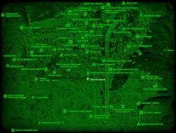 FO4 Гора на шоссе (карта мира)