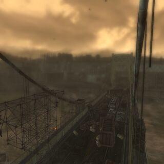 Вид на міст з снайперської позиції.