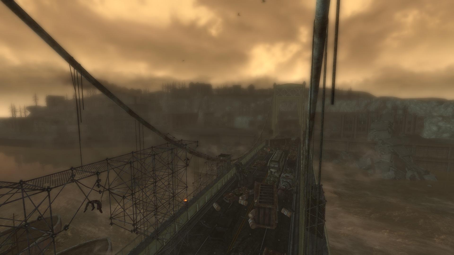 The Pitt bridge from the sniper nest