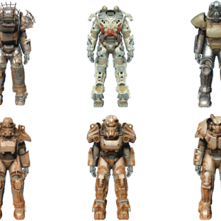 Different types of power armor in <i>Fallout 4</i>