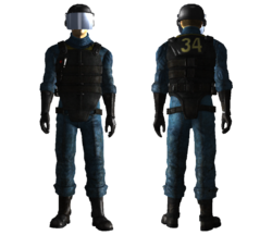 Vault 34 security armor male