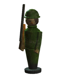 Wooden soldier toy