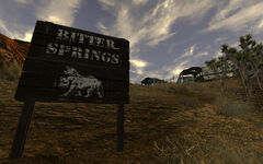 Bitter Springs sign