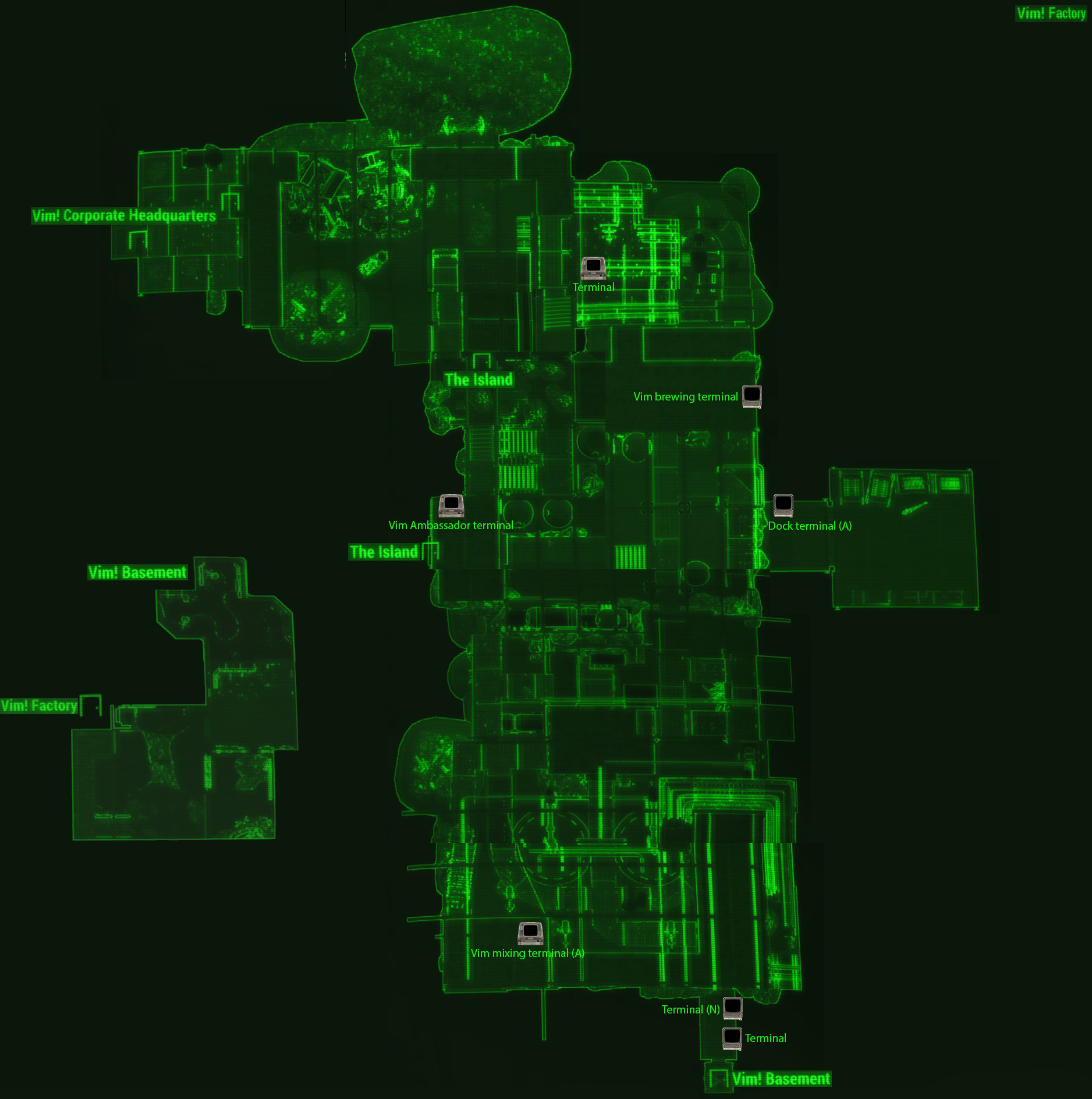 Vim Factory map