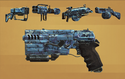 FO4CC Weapon Paint Job Aquatic Camo
