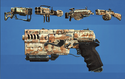 FO4CC Weapon Paint Job Desert Camo