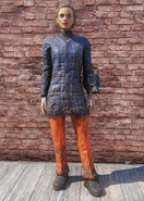 FO76 Skiing Navy and Orange Outfit