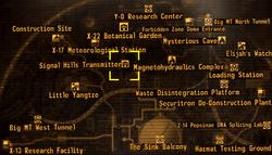 Signal Hills transmitter map