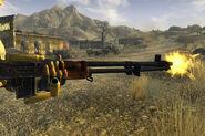 Automatic rifle side shot