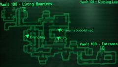 Vault 108 cloning lab loc