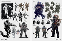 Art of Fo4 raider armor concept art