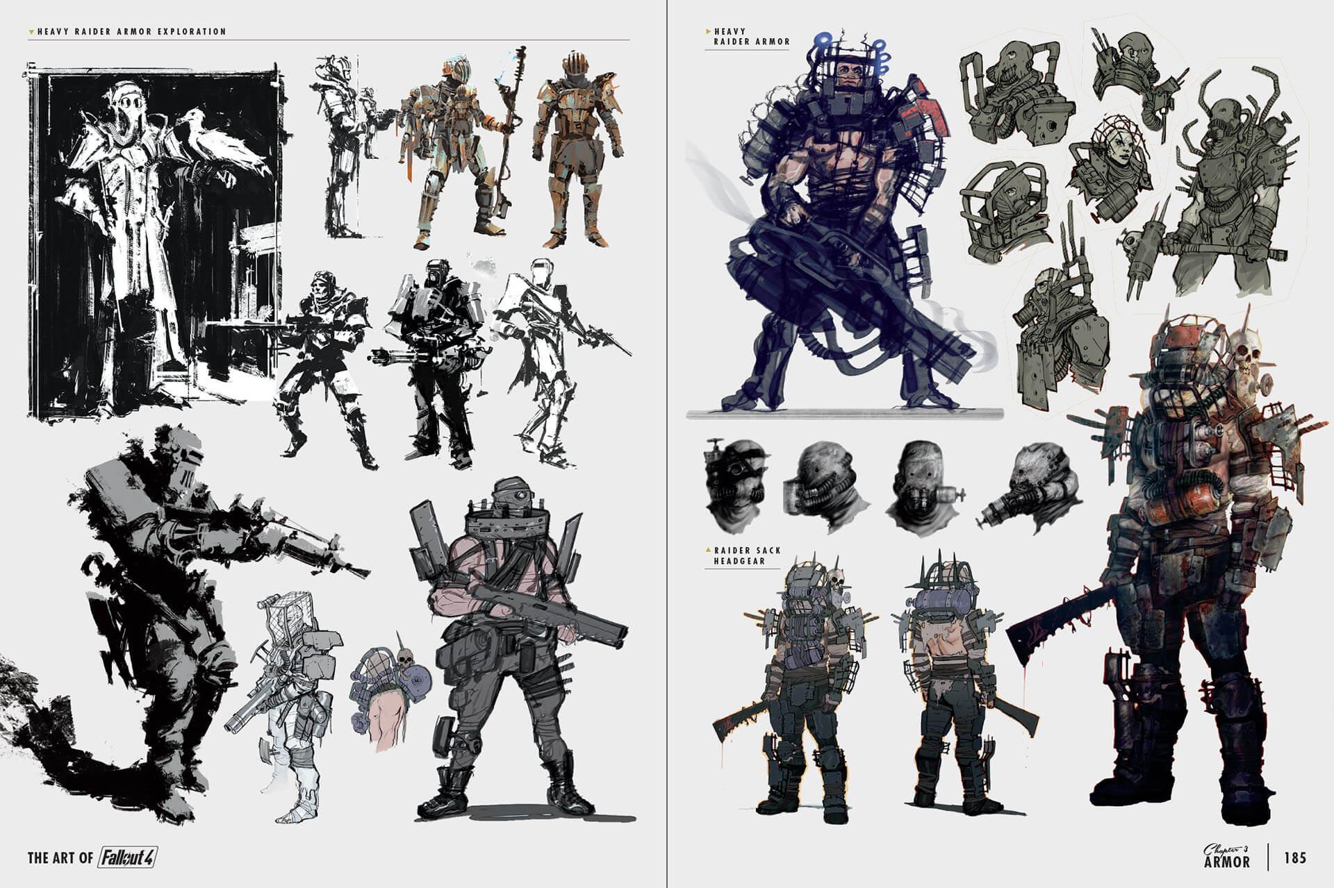 image art of fo4 raider armor concept art jpg fallout wiki