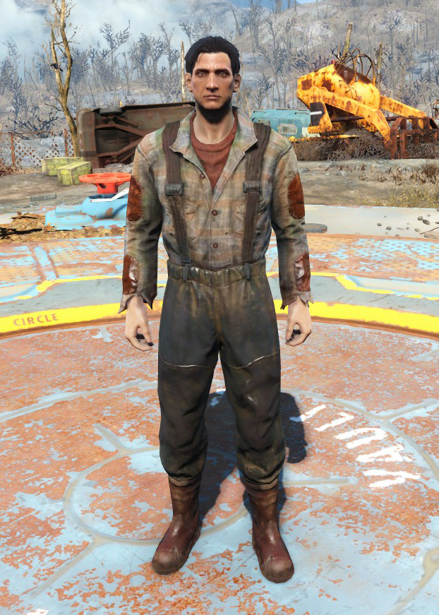 Fo4fh - Brown Fisherman's Overalls