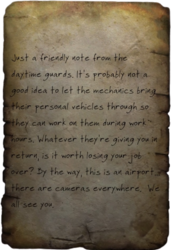 Guard note