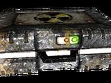 Lead-lined metal box