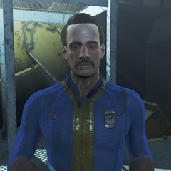 The unnamed Vault Overseer for Vault 111 in <i>Fallout 4</i>