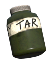 Sticky tar