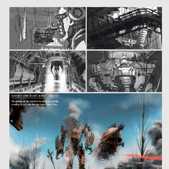 Airship/Liberty Prime attack concept art