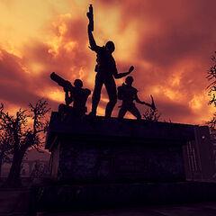 Меморіал вночі