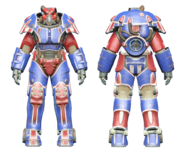 FO4CC X-01 power armor patriotic