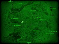 FO4 Ферма Эбернети (карта мира)