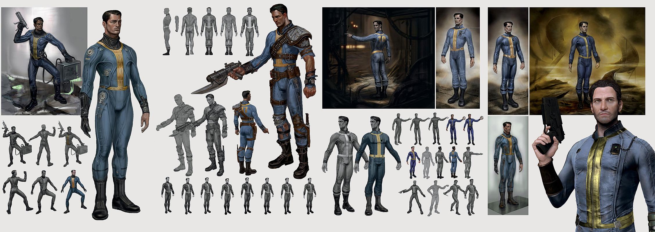 image fo4 vault suit concept art jpg fallout wiki fandom