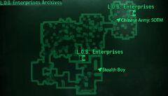 LOB Enterprises Archives loc map
