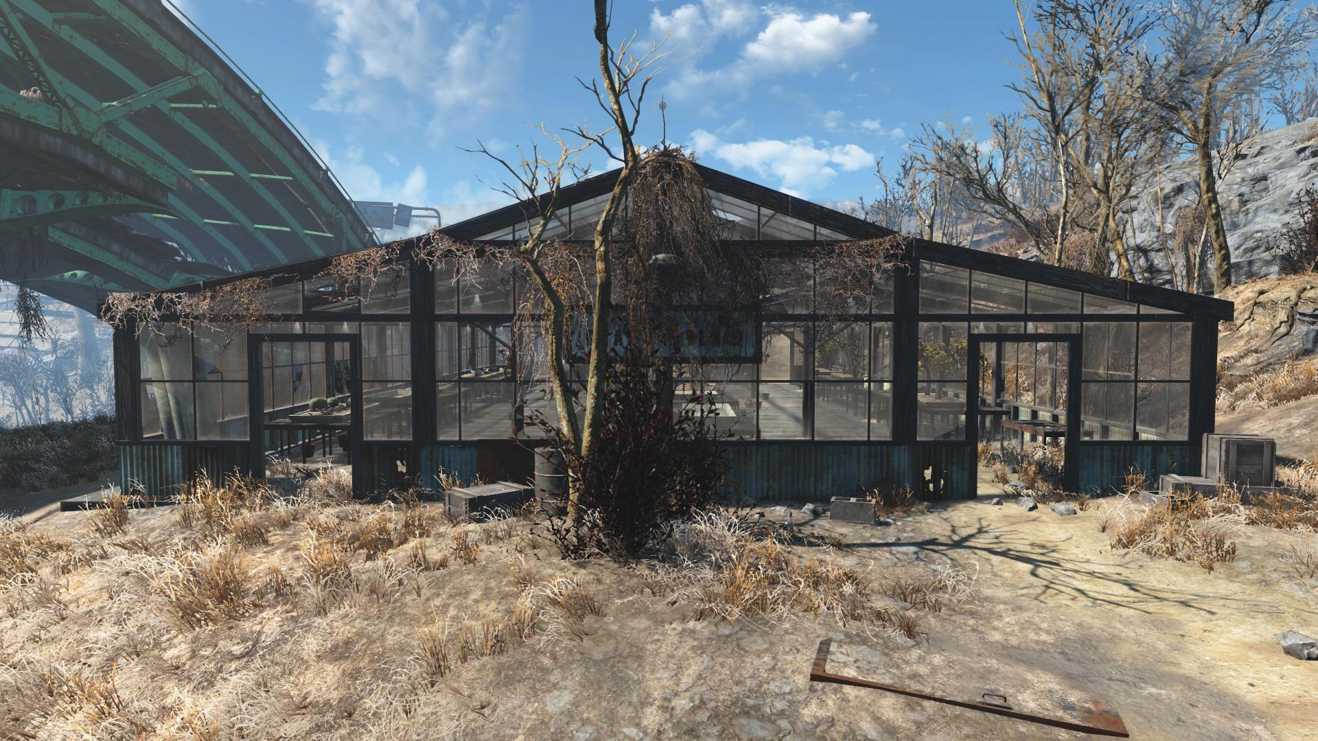 FO4 Graygarden Back Greenhouse