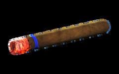 Lit cigar
