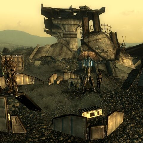 Enclave outpost, north of the Overlook Drive-In