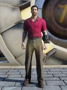 FO76 Red and khaki shirt and slacks